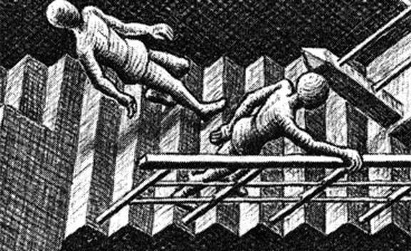 "Detail of M.C. Escher's ""Relativity"""