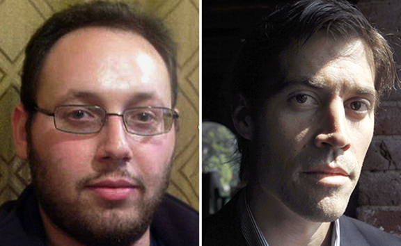 U.S. journalist Steven Sotloff, left; journalist James Foley, right. (Left: The Daily Caller/Handout via Reuters – Right: Steven Senne/AP)