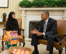 Malala Yousafzai Sits Down with President Obama and Family